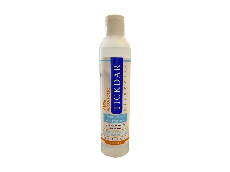 محلول پاک کننده و بهداشتی کننده پوست تیکدر حجم ۲۵۰ میلی لیتر